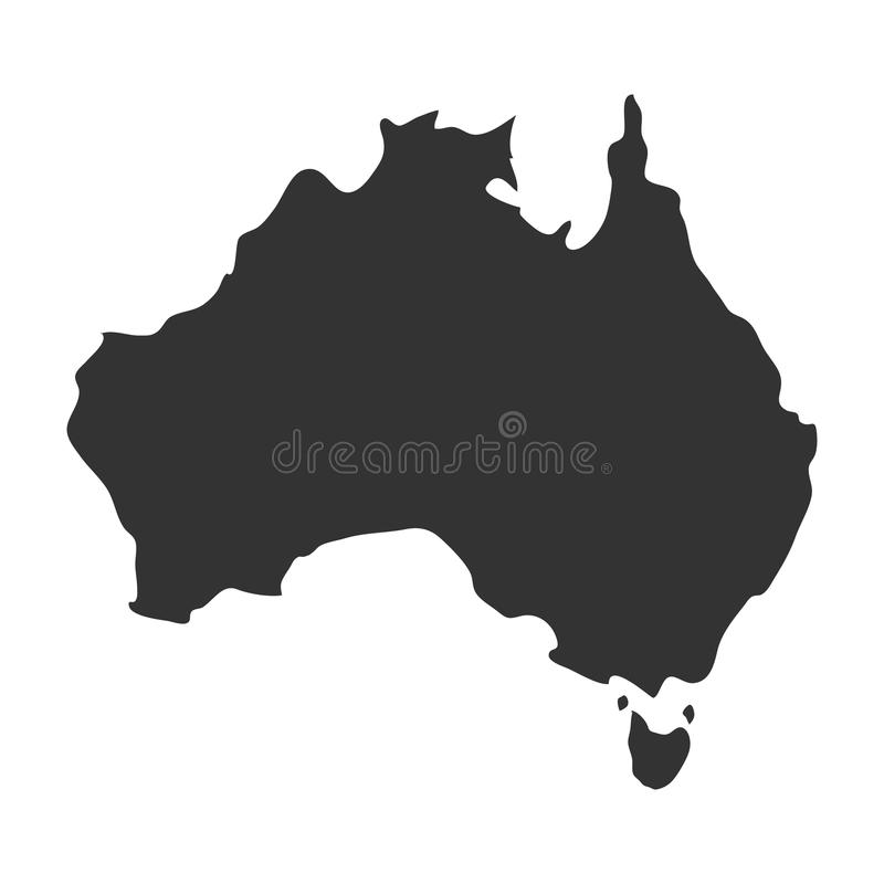 Australia related image. Territory outline australia related image illustration design vector illustration