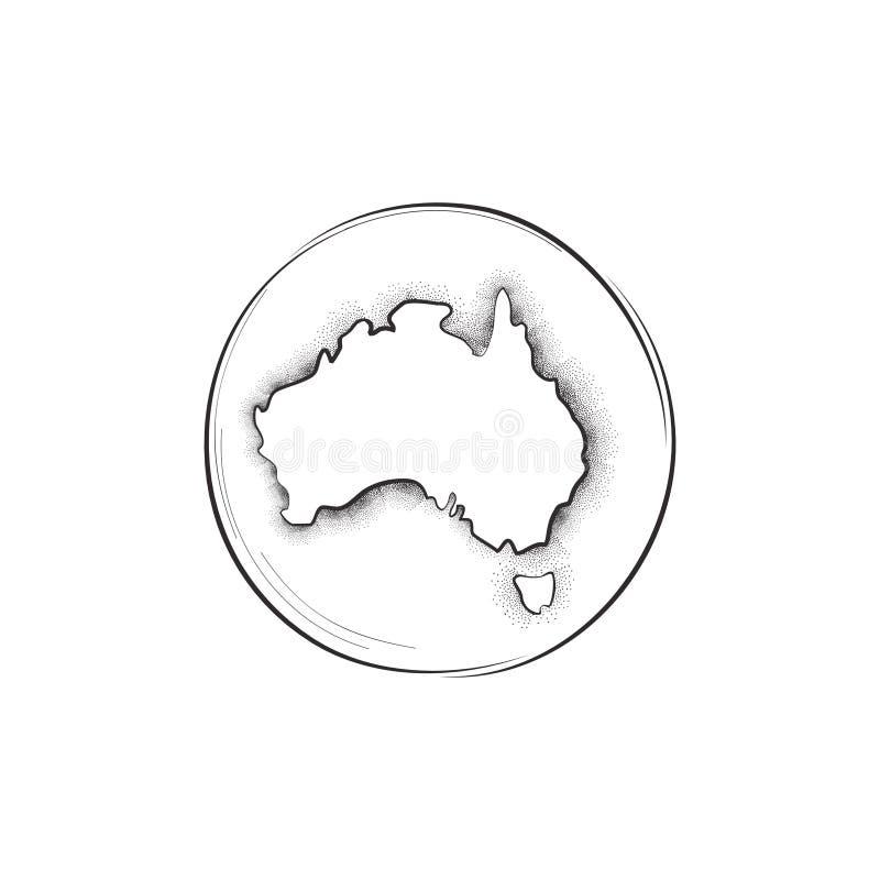 Australia Retro mapa znak ilustracja wektor