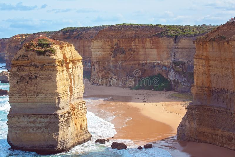 Australia`s Famous Great Ocean Road Landmarks. Australia`s beautiful Victorian Great Ocean Road coastline, a well-known tourist destination royalty free stock photos