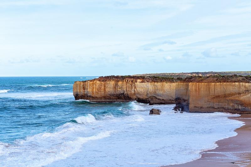 Australia`s Great Ocean Road Coastline. The stark and beautiful coastline of the famed Great Ocean Road in Victoria Australia royalty free stock photo