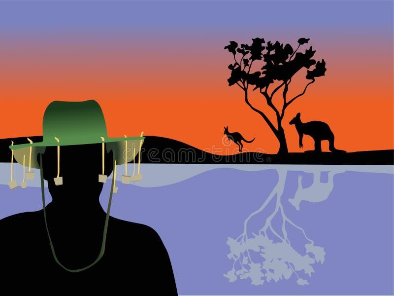 Australia scene stock illustration