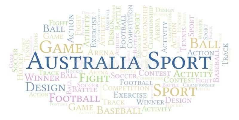 Australia sporta słowa chmura ilustracji