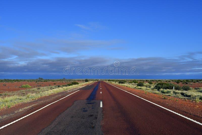 Australia, South Australia, straight Stuart Highway royalty free stock images