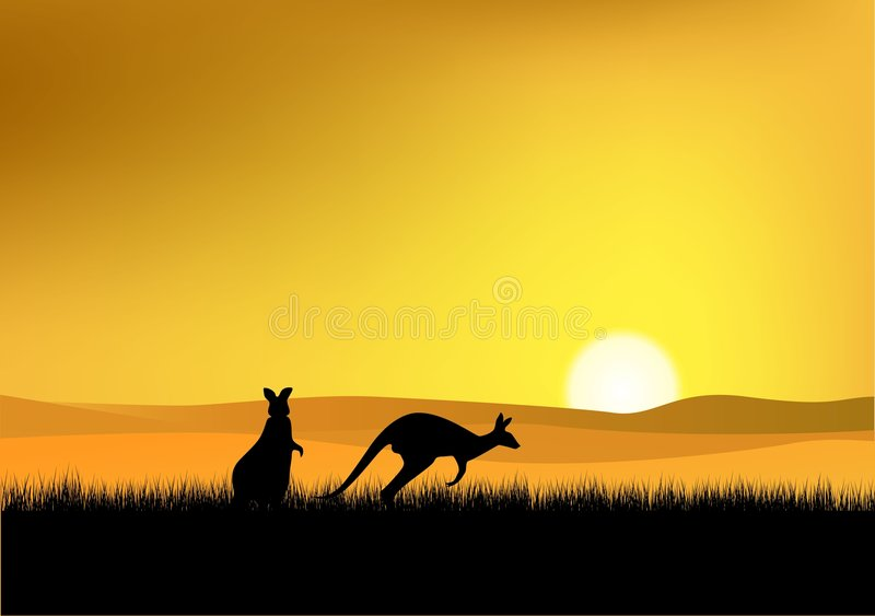 Download Australia Sunset stock vector. Image of drawing, sunset - 7652675