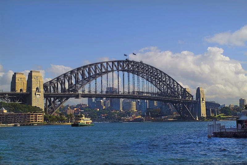 Australia, Sydney. Harbour Bridge in Sydney, Australia stock photo