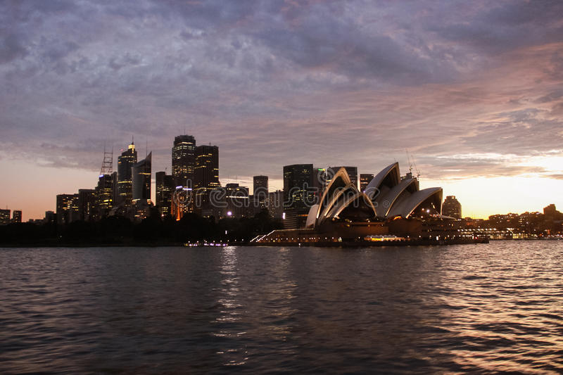 Australia Sydney Skyline Opera House. View royalty free stock photo