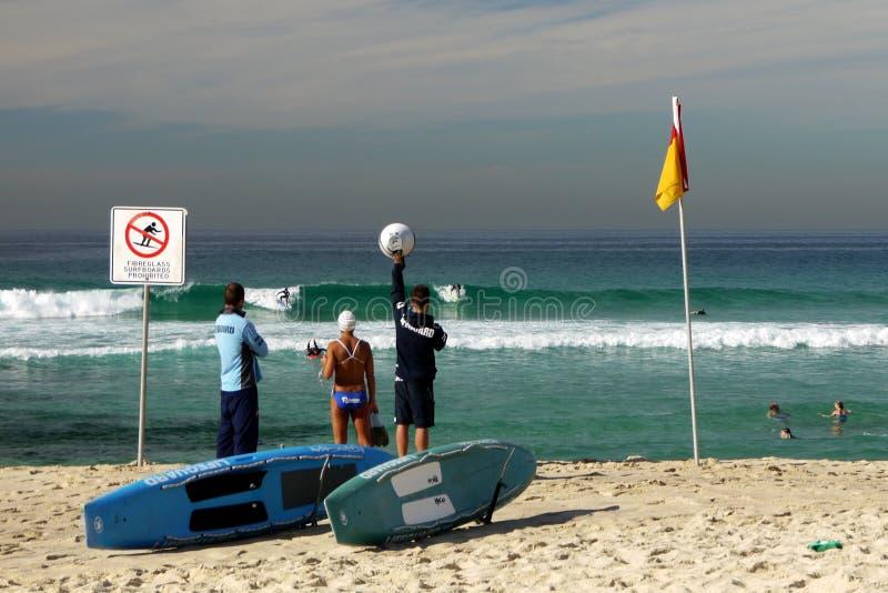 Australia: Tamarama beach lifeguards stock photos