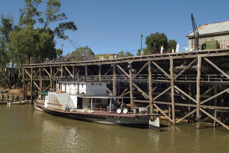 Australia, VIC, Echuca, stary port obrazy royalty free
