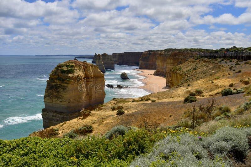Australia, VIC, Wielka droga ocean obrazy stock