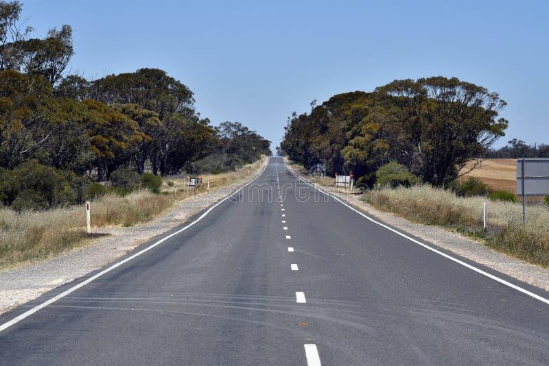 Australia, Victoria, camino recto foto de archivo libre de regalías