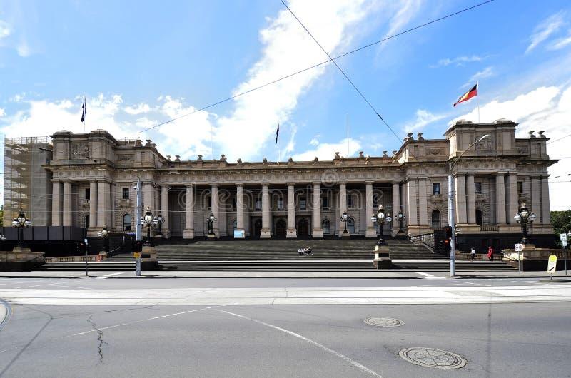 Australia, Victoria, Melbourne, el parlamento foto de archivo libre de regalías