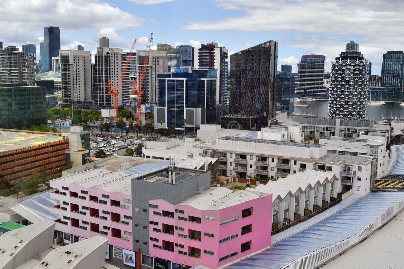 Australia, Victoria, Melbourne, horizonte al centro de la ciudad fotografía de archivo