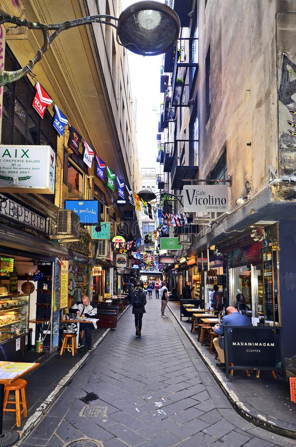 Australia, Victoria, Melbourne, downtown district stock images