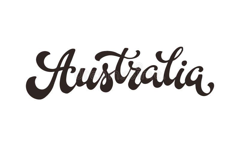 Australia wektorowy słowo ilustracja wektor