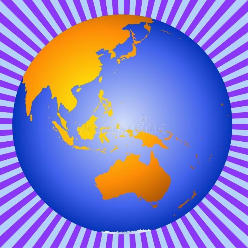Australia ziemi azji nowej Zelandii ilustracja wektor