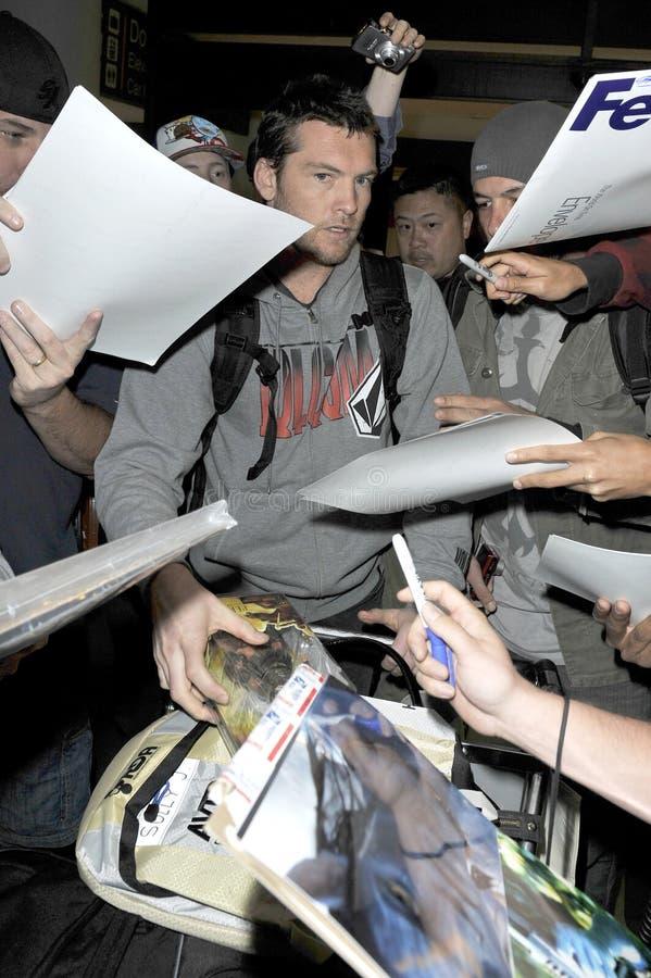 Australian actor Sam Worthington at LAX stock photo