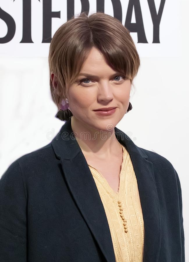 Erin Richards at World Premiere of `Yesterday` at Closing Night Gala of 2019 Tribeca Film Festival. Australian actress Erin Richards arrives at the World stock images