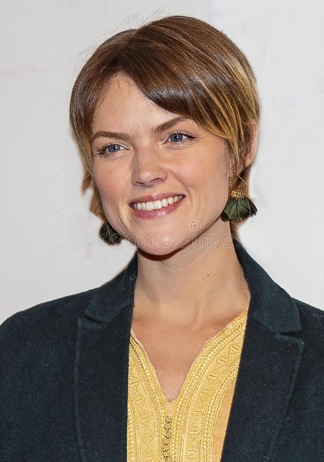 Erin Richards at World Premiere of `Yesterday` at Closing Night Gala of 2019 Tribeca Film Festival. Australian actress Erin Richards arrives at the World stock image