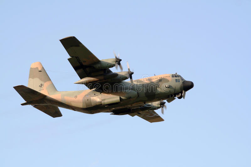 Australian Airforce transport plane royalty free stock photography