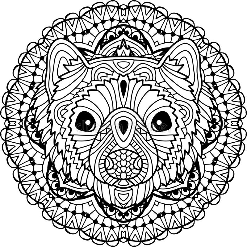 Line Drawings Of Australian Animals : Australian animal the head of a marten with patterns
