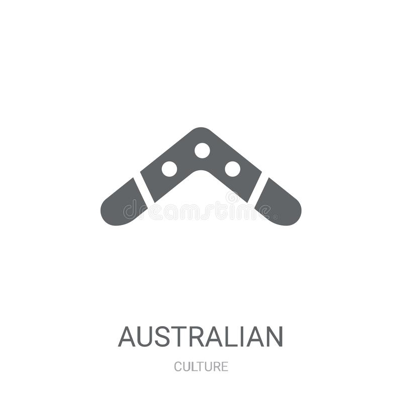 Australian Boomerang icon. Trendy Australian Boomerang logo concept on white background from Culture collection royalty free illustration