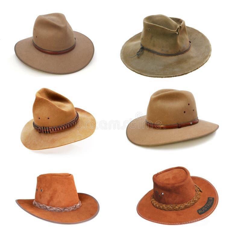 Australian Bush Hats Royalty Free Stock Photography