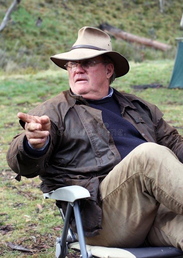 Australian Bushman royalty free stock image