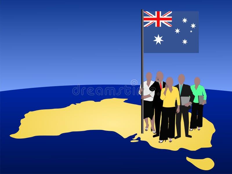 Australian business team vector illustration