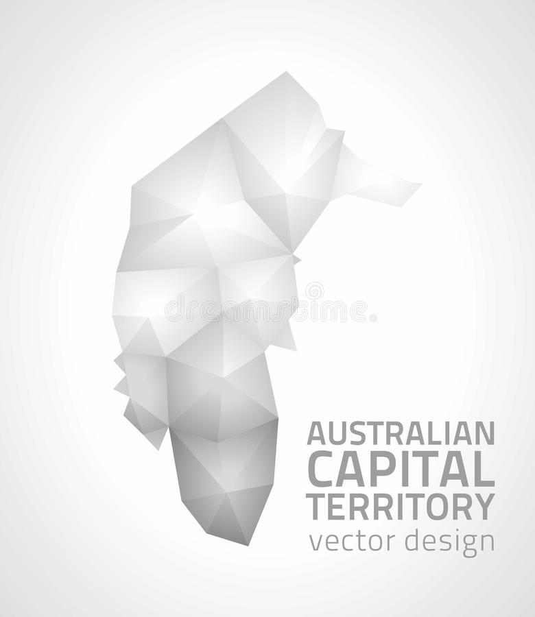 Australian Capital Territory polygonal mosaic vector triangle map royalty free illustration