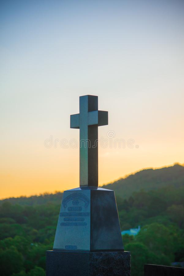 Australian Cemetery around Brisbane city in Queensland, Australia. Australia is a continent located in the south part of the earth royalty free stock images