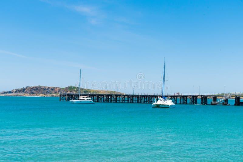 Australian coastal view at Coffs Harbour, Australia. Coffs Harbour, NSW, Australia- December 20, 2017 : Australian coastal view at Coffs Harbour, Australia, one royalty free stock images