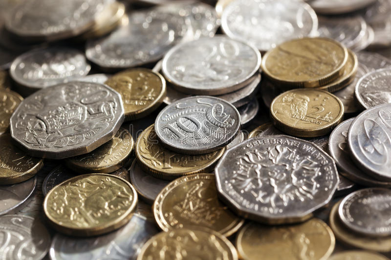 Australian Coins Background royalty free stock image
