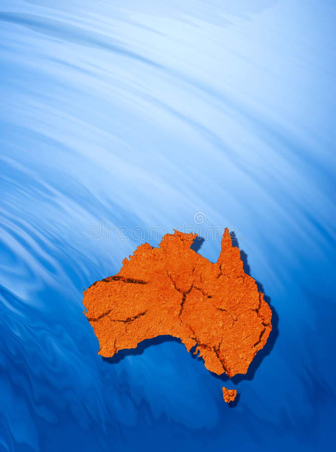 The Australian Continent Background royalty free stock images