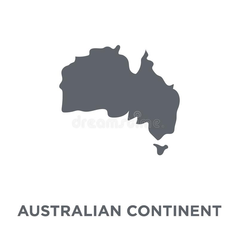 Australian continent icon from Australia collection. royalty free illustration