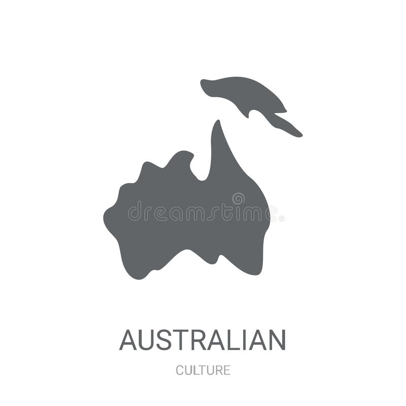 Australian continent icon. Trendy Australian continent logo concept on white background from Culture collection vector illustration