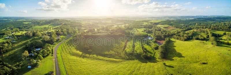 Australian countryside landscape at sunset. royalty free stock photo