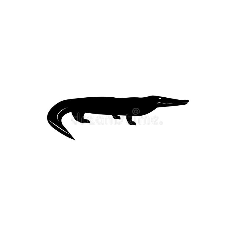 Australian crocodile icon. Elements of the fauna of Australia icon. Premium quality graphic design icon. Baby Signs, outline symbo royalty free illustration