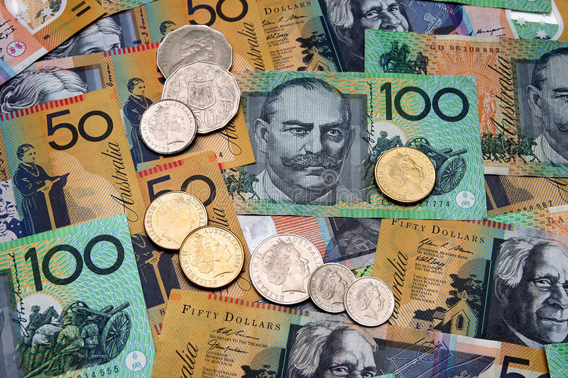 Australian Currency. Close up of Australian Currency. Can be used as a background stock image