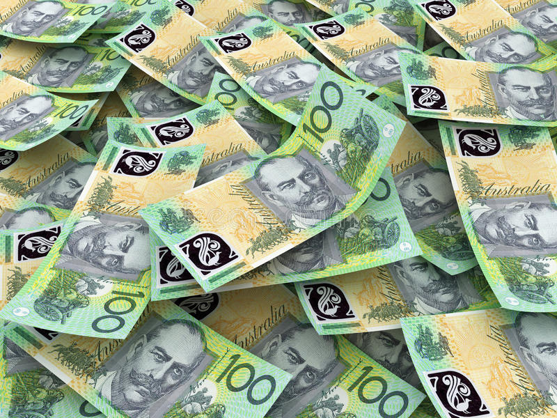 Australian Currency Close-up royalty free stock image