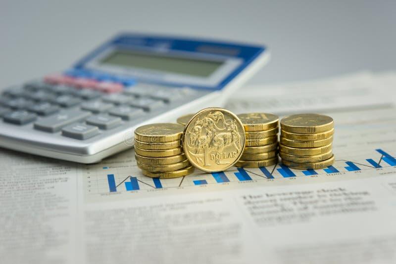 Australian currency stock image