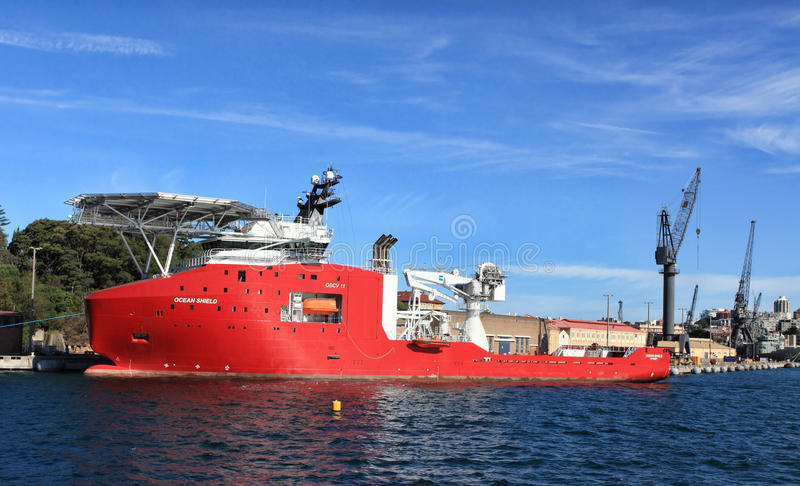 Australian Defence Vessel Ocean Shield Editorial Stock Photo