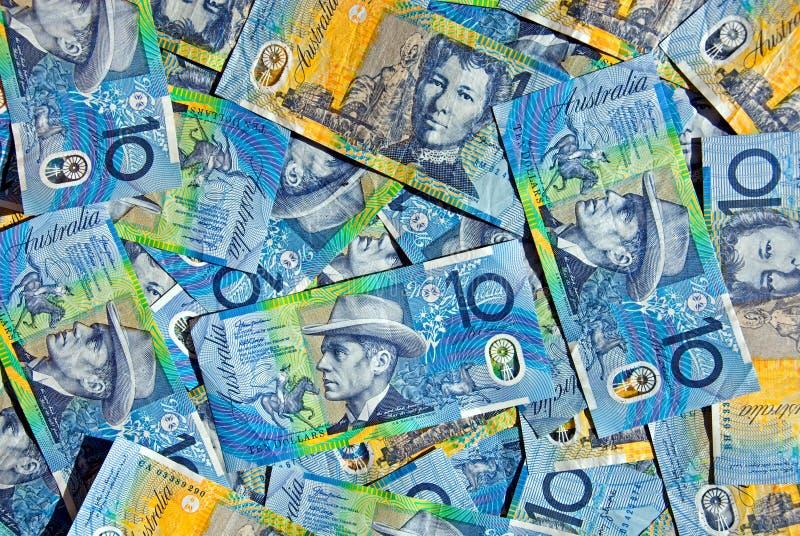 Australian dez notas do dólar fotos de stock royalty free