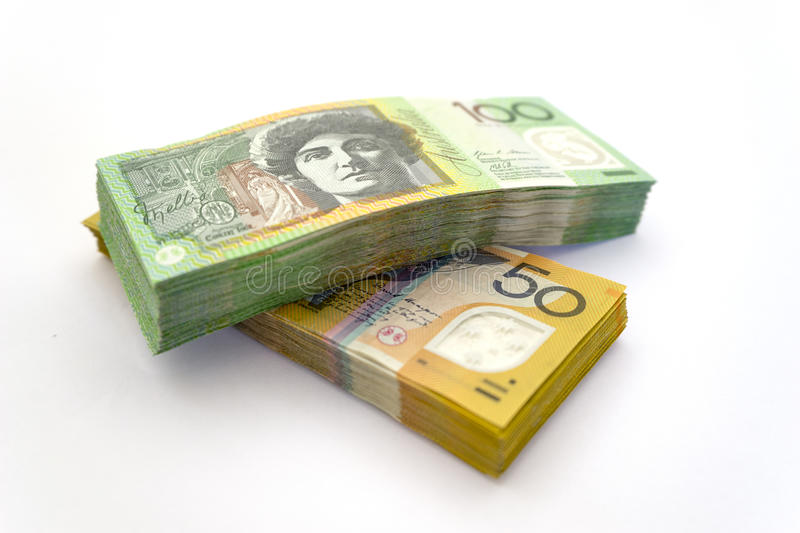 Australian dollar bills royalty free stock photo