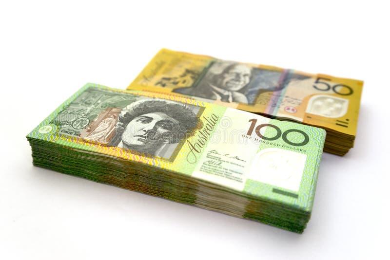 Australian dollar bills royalty free stock photography