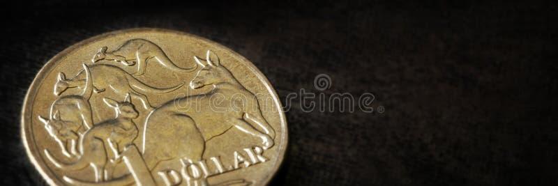 Australian Dollar Macro Banner royalty free stock photography