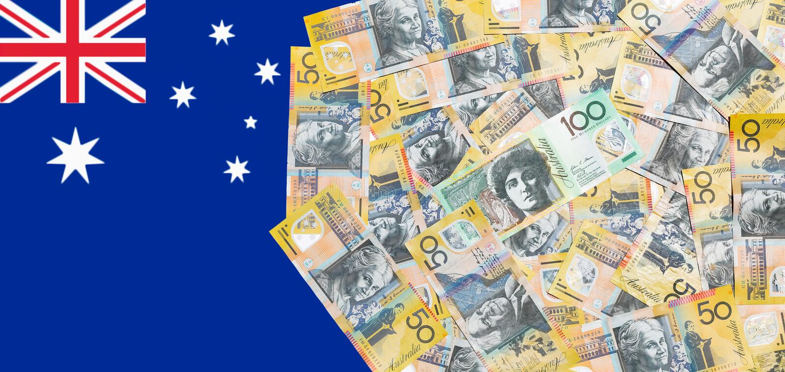 Australian dollar notes. Close up Australian dollar notes for backgound royalty free stock photos