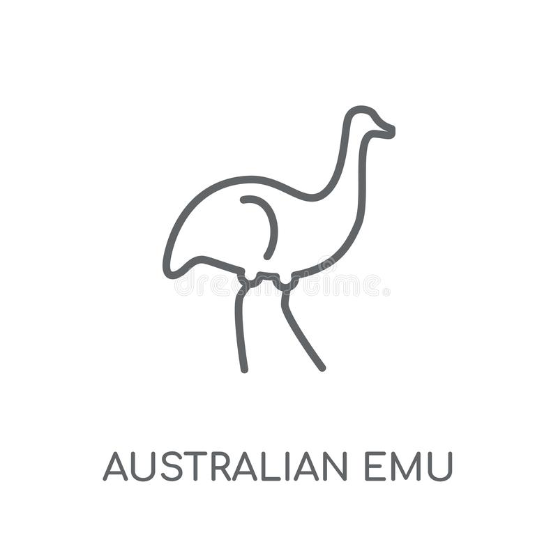 Australian emu linear icon. Modern outline Australian emu logo c stock illustration