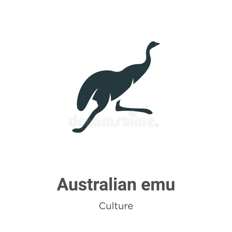Free Australian Emu Vector Icon On White Background. Flat Vector Australian Emu Icon Symbol Sign From Modern Culture Collection For Royalty Free Stock Photography - 163120357