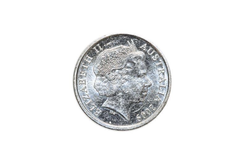 Australian five cents royalty free stock photo