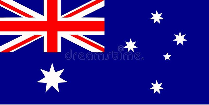 Australian flag stock illustration